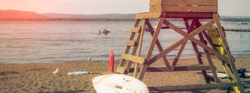 Kleiner Brombachsee: großes Camping im Fränkischen Seenland