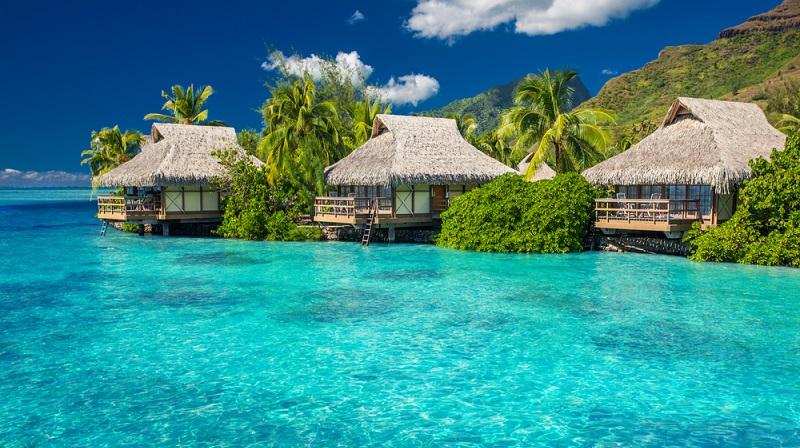 Mareto Plage Publique: Dieser Strand liegt auf der Insel Moorea und kommt der Idealvorstellung eines Tropen-Strandes sehr nahe: Kristallklares warmes Wasser, zahlreiche Palmen und feiner heller Sand. Die Kosten betragen hier 55,37 Euro pro Tag. (#02)