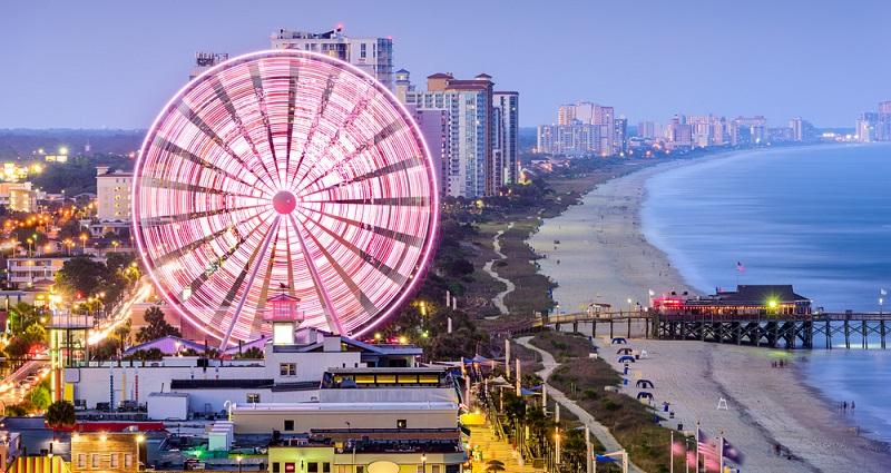 Auch Myrtle Beach in South Carolina gehört in diese Liste und bietet rund 60 Kilometer wunderschönen Sandstrand